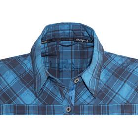 Bergans Leknes Camisa Manga Corta Mujer, navy/light sea blue charcoal